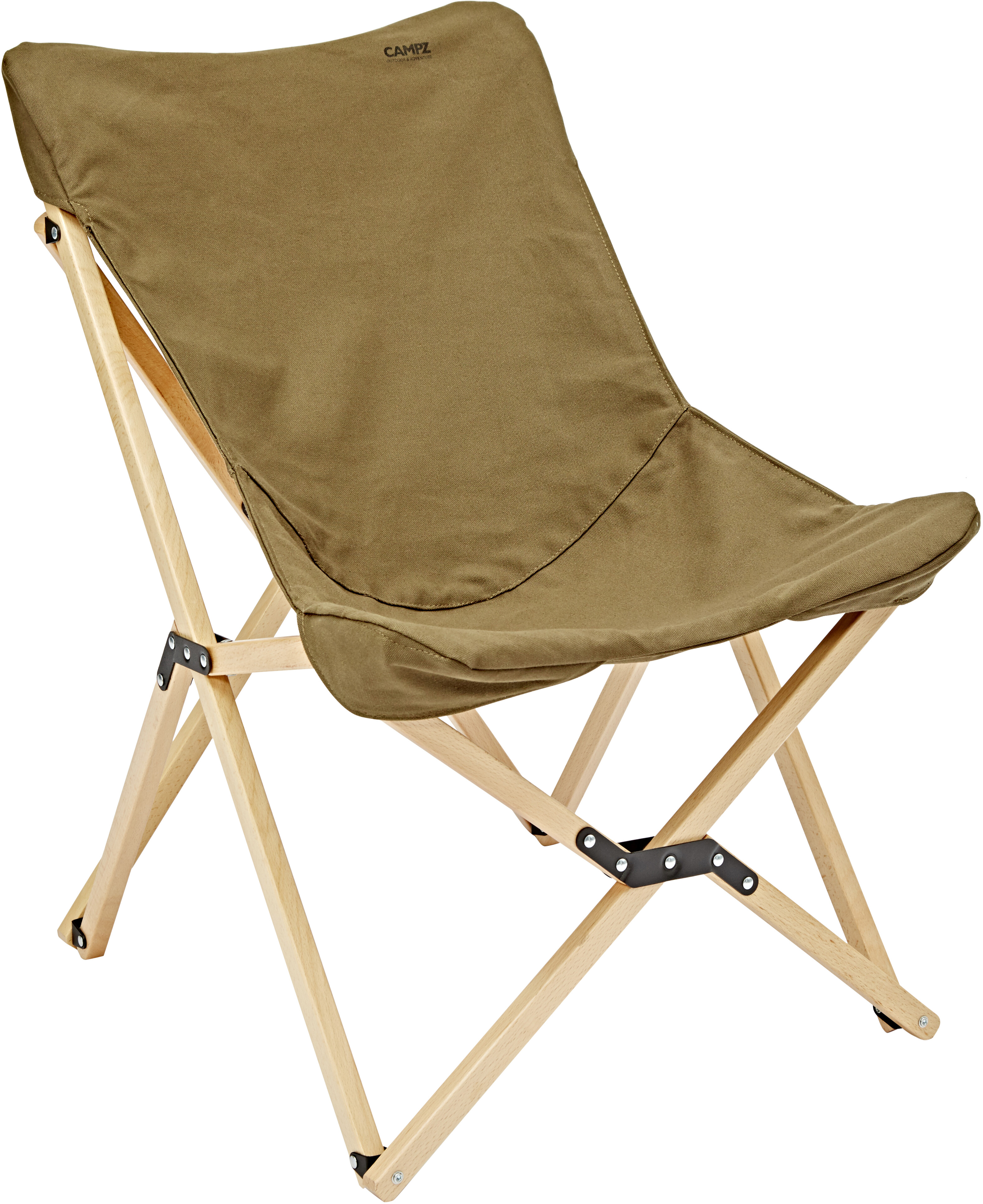 CAMPZ Beech Wood Folding Chair Brown At Addnature